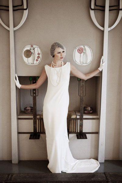 Свадебное платье в стиле ар-деко