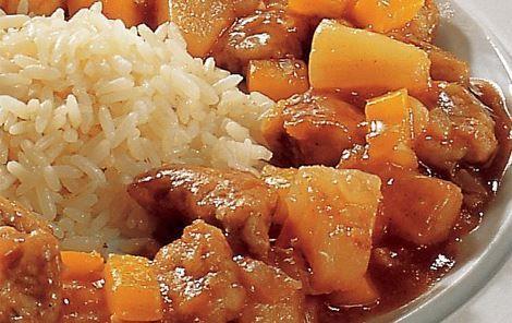 Den klassiske kinesiske sur-søde sauce - herligt. Kan også bruges til fx indbagt kylling og rejer.