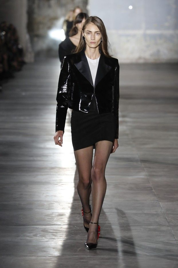 Anthony Vaccarello Just Won for Best Front Row at Saint Laurent via @WhoWhatWear
