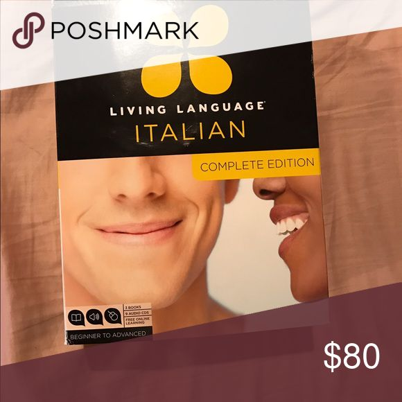 Learn to speak Italian Complete Edition opened but never used. Living Language Other