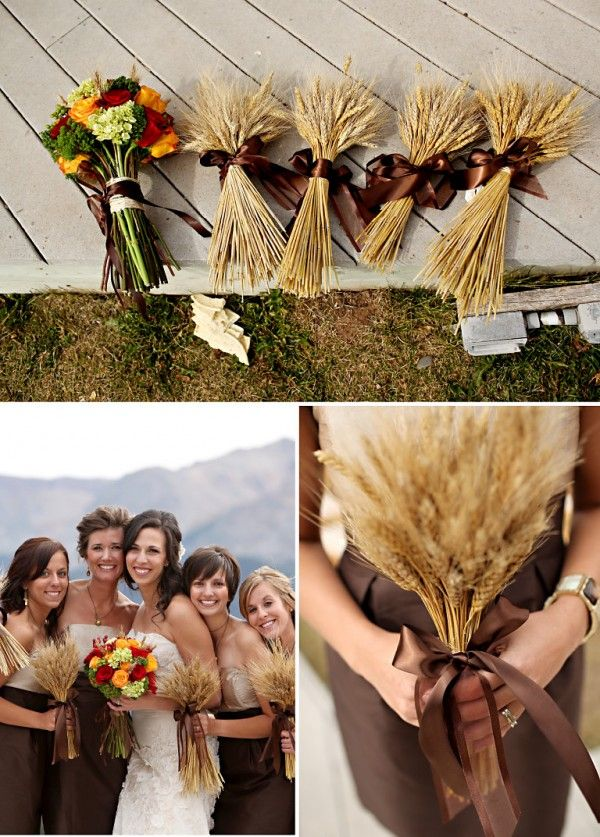 sort of love the wheat for a Fall Wedding