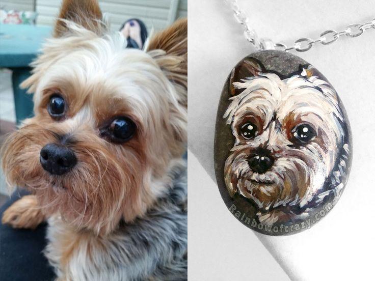 What a cutie! 😍 Custom pet necklaces: http://etsy.me/1tUJRcW