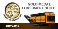 the low-speed mobile shredder PRONAR MRW2.1010 received 50% of votes in this year's edition of the Gold Medal- Consumers' Choice - MTP.