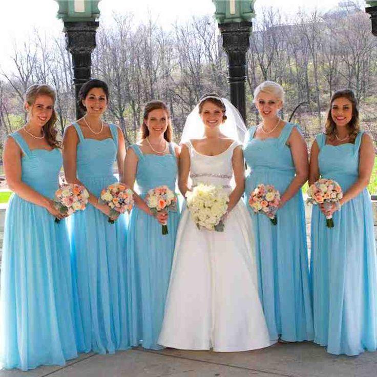 Pool Blue Bridesmaid Dresses