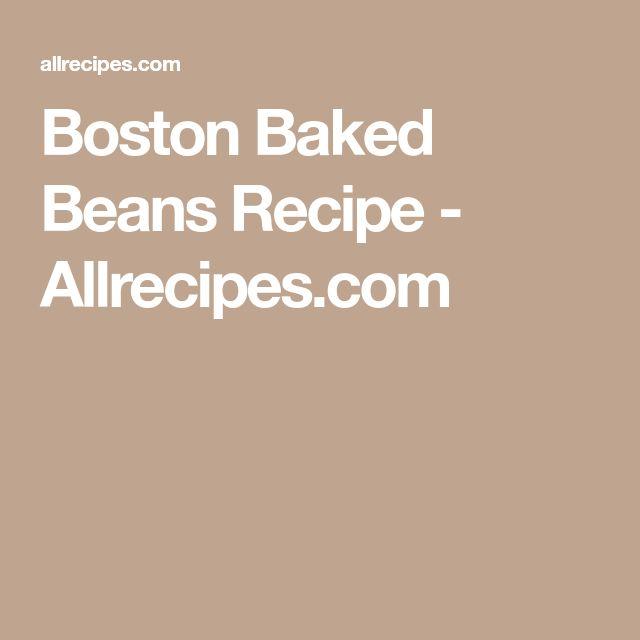 Boston Baked Beans Recipe - Allrecipes.com