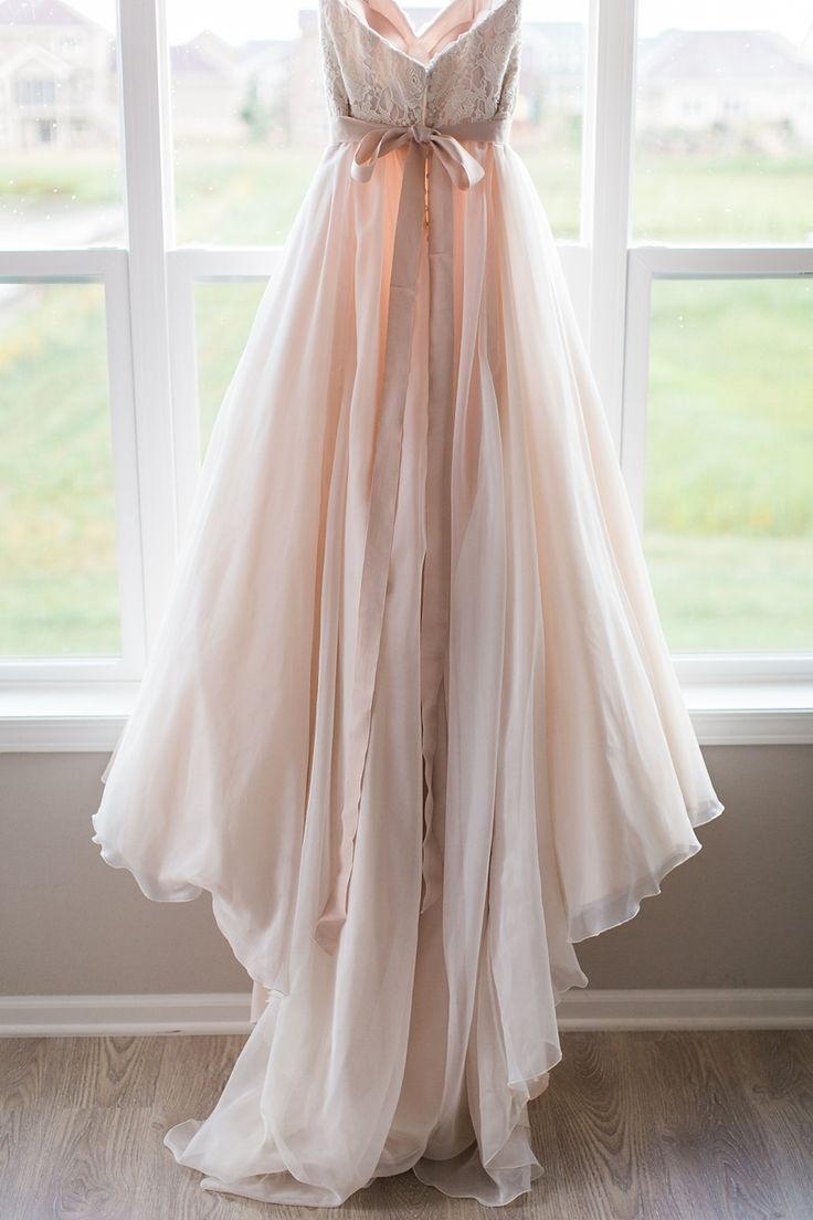 Blush Wedding Dress 1402 : Wedding blush pink dress weddings summer