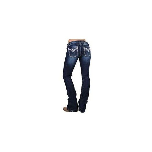 Miss Me Women's Low Rise Embellished Jeans Boot Cut ❤ liked on Polyvore featuring jeans, embellished jeans, low rise jeans, low rise boot cut jeans, rhinestone bootcut jeans and boot-cut jeans