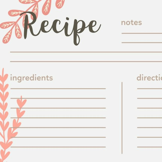 40 Recipe Card Template And Free Printables Recipe Cards Printable Free Recipe Cards Template Recipe Book Templates