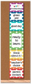 Behavior Clip Chart - Rainbow Polka Dot - Classroom Management #