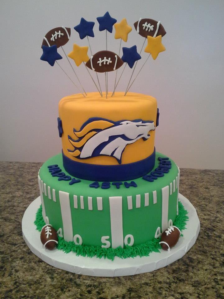 Denver Broncos Jersey Cake