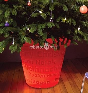 Bloom Christmas tree stand red