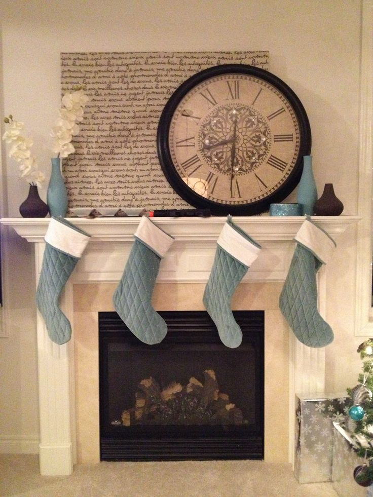 Large clock over the fireplace | Home Sweet Home ...