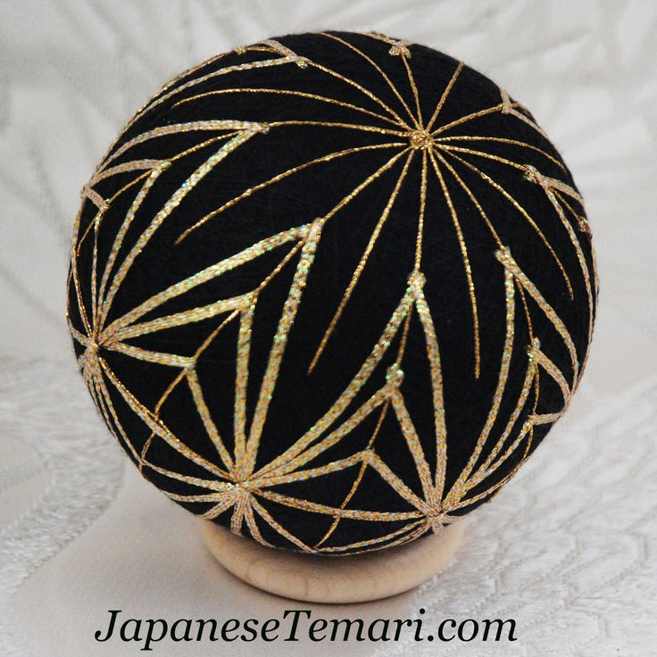 Japanese Temari: Kreinik metallic ribbon makes a quick and easy temari! (easy Christmas ornaments for gifts)