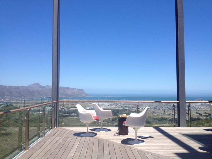 Waterkloof wine estate, Cape winelands - for a meal with a view