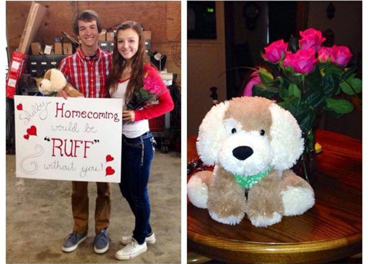 Cute homecoming proposal #homecoming #proposal