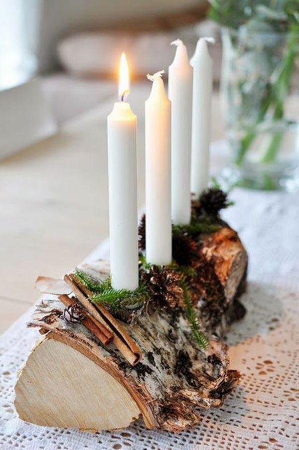 weihnachtsdeko diy bastelideen kerzen