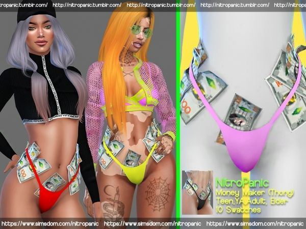 Money Maker (Thong) - The Sims 4 Download - SimsDomination