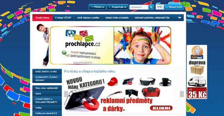 prochlapce.cz - pronájem eshopu a unikátní grafický design