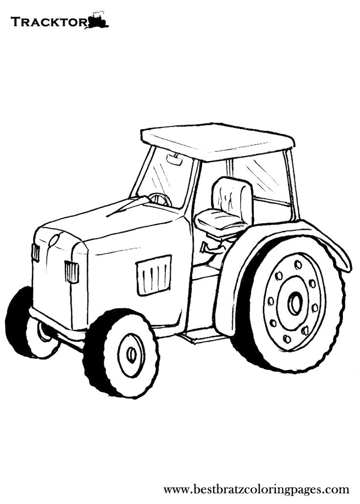 John Deere Tractor Coloring Pattern : Free printable tractor coloring pages for kids
