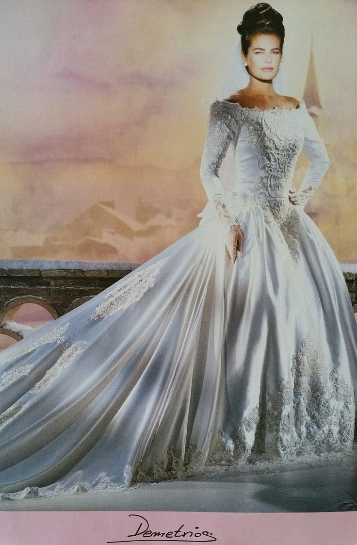 Demetrios 1992  Demetrios 90s collections  Wedding dresses Wedding gowns Wedding dress with