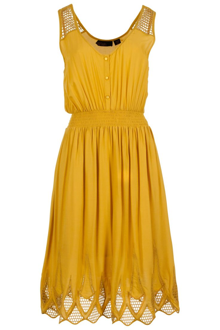 I don't usually gravitate toward mustard color but this dress is amazing! Paired with a brown belt and wedges, get in my closet!