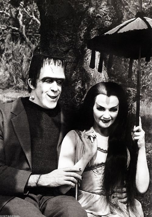 Fred Gwynne and Yvonne De Carlo as Herman and Lily Munster, 1960's