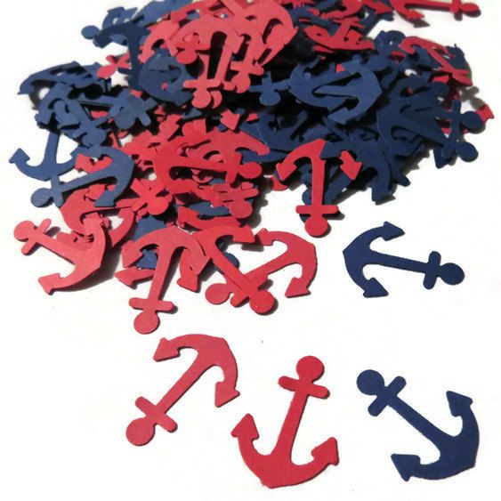 Hey, I found this really awesome Etsy listing at https://www.etsy.com/listing/213798586/anchor-confetti-in-navy-and-red-100
