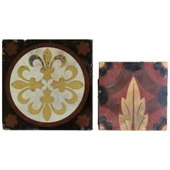 Two 19th Century Tiles, by William Godwin & Minton Hollins, English, circa 1870
