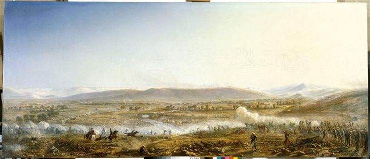 Bataille de Traktir, le 16 août 1855. The Battle of the Chernaya (Battle of Tchernaïa, Battle of the Black River) was a battle by the Chernaya River fought during the Crimean War on August 16, 1855. The battle was fought between Russian troops and a coalition of French, Sardinian and Ottoman troops. The Chernaya River is on the outskirts of Sevastopol. The battle ended in a Russian retreat and a victory for the French,