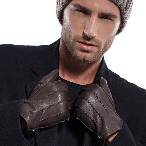 MATSU Men Winter Warm Deerskin Leather 100% Cashmere Lined Gloves M1066 (L, Brown-100% Cashmere) Matsu Gloves http://www.amazon.com/dp/B013HTKTME/ref=cm_sw_r_pi_dp_owJ-vb06KR775