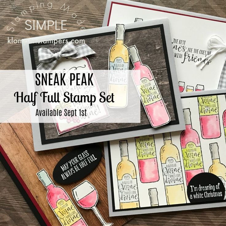 Stampin' Up! Half Full stamp set in the 2017 Stampin' Up! Holiday Catalog.