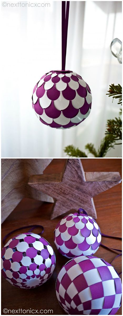 paper ornaments. Hmm, I'm gonna check this tutorial and then how big I can make them! Maybe put a light in one!