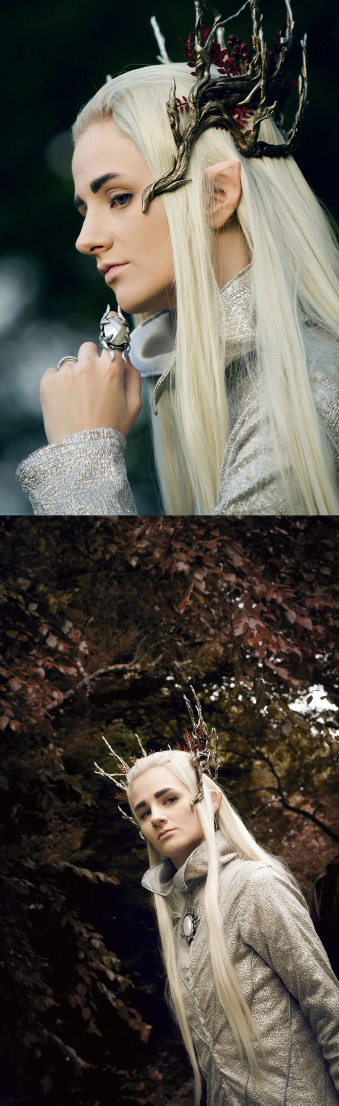 Thranduil, Elven King of Mirkwood - The Hobbit- wow this costume is amazing! *-*