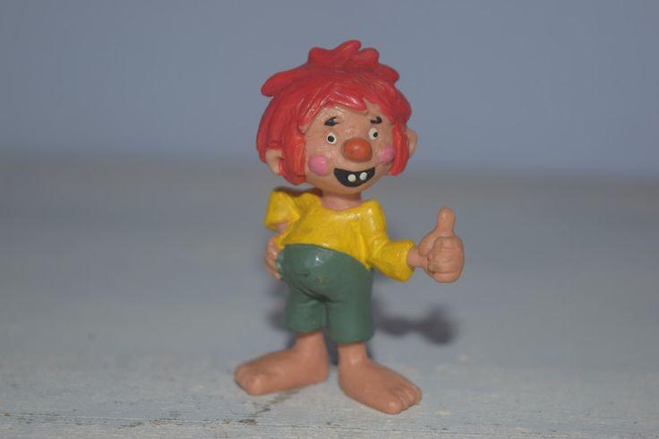 Vintage Künstlerpuppen - kleiner Vintage Pumuckl Figur , Hartplastik - ein Designerstück von VitaMonella bei DaWanda