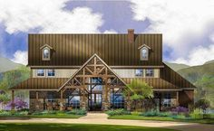 Country Home with Huge Family Room Open to Above - 36531TX | 1st Floor Master Suite, Butler Walk-in Pantry, CAD Available, Country, Hill Country, Media-Game-Home Theater, Mountain, PDF, Vacation, Wrap Around Porch | Architectural Designs