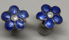 Sterling Silver Enamel earrings  Norway Norwegian