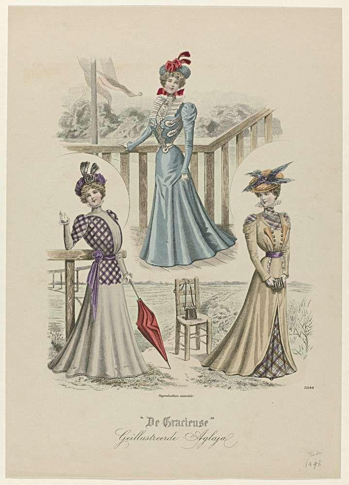 De Gracieuse, Geïllustreerde Aglaja, juli 1898, No. 3544