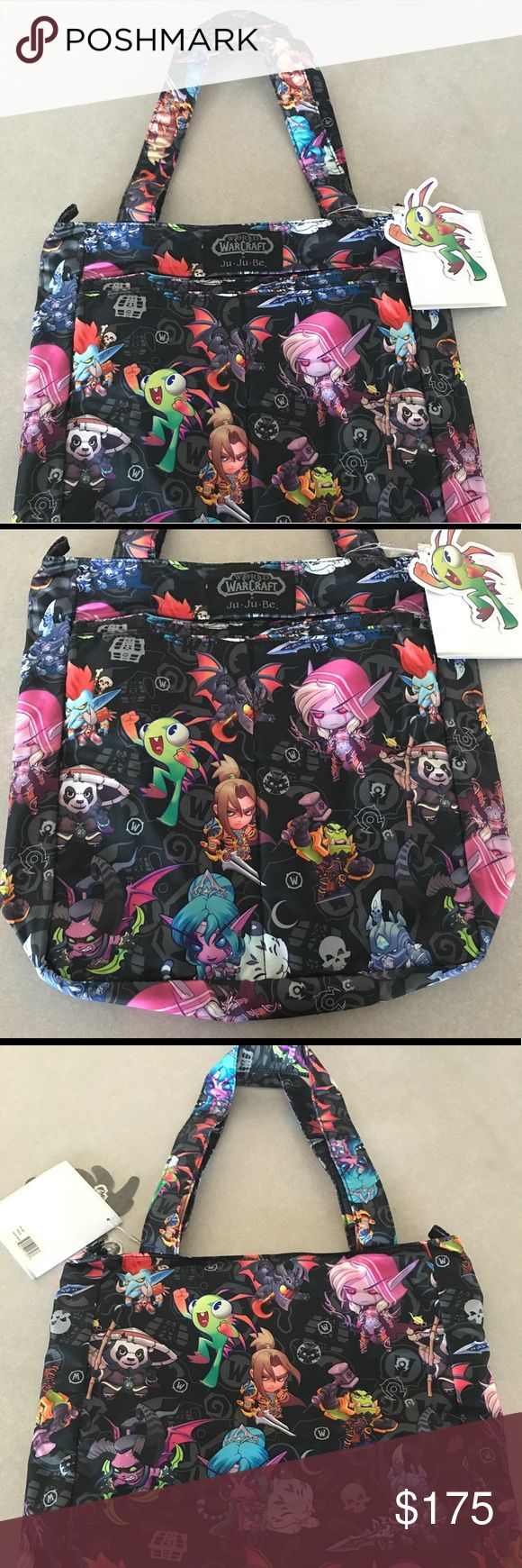 """Ju-Ju-Be x World of Warcraft BE LIGHT Shoulder Bag Authentic Ju-Ju-Be x BLIZZARD World of Warcraft """"Cute But Deadly"""" Collaboration BE LIGHT Shoulder Tote  Incredibly rare and sold out worldwide. This release was very limited. PRICE FIRM. NO Offers.  12""""W x 14""""H x 3""""D Ju-Ju-Be Bags Shoulder Bags"""