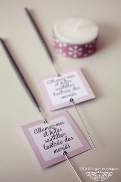 ©instant2bonheur_étiquettesciergesmagiques / blog mariage Instant2bonheur  ♥ #epinglercpartager