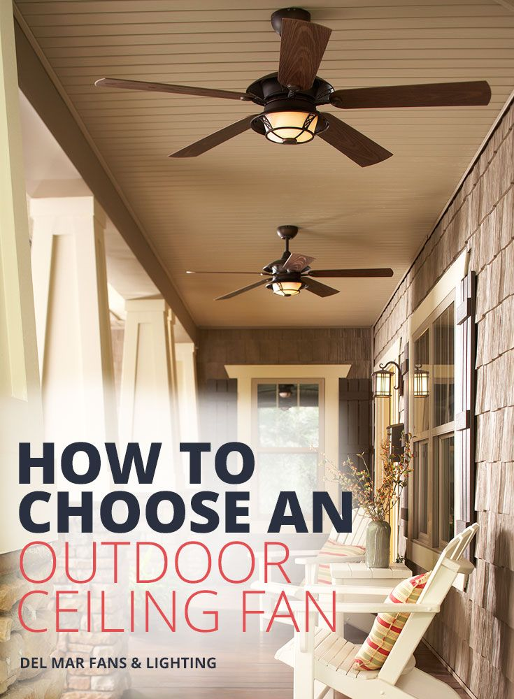 If you're considering using an indoor fan for your outdoor space, please know outdoor ceiling fans are built to withstand the harsh exterior elements that interior fans often can't handle.