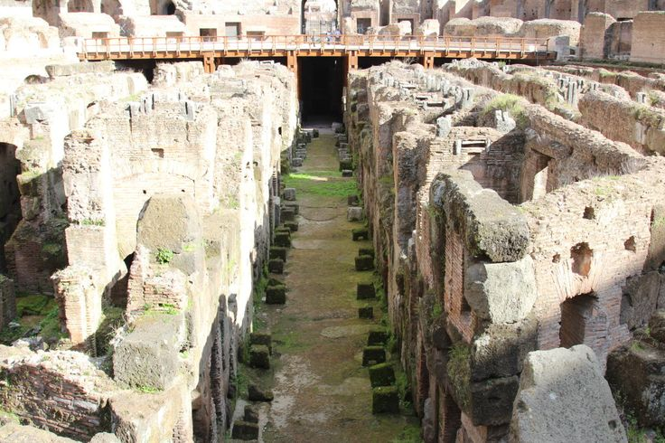 Visit the Colosseum in Rome with kids and see the walkways where animals and gladiators walked.