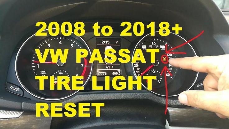 ▶️Volkswagen Passat Tire Pressure Light TPMS RESET 2008 to 2018+ ▶️w/ PR...  https://youtu.be/cEjOlqGwFJU