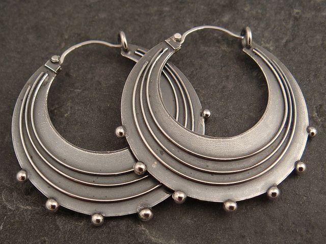 Earrings   Chuck Domitrovich.  Sterling silver