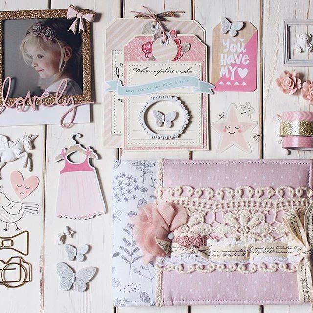 Mood Board Scrapbooking Create Paper Little You Baby Girl