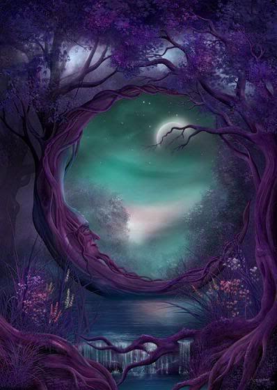 The Purple halfmoon tree.