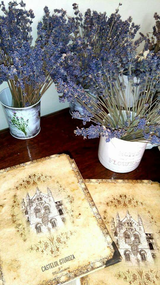 Lavender and old style invitations
