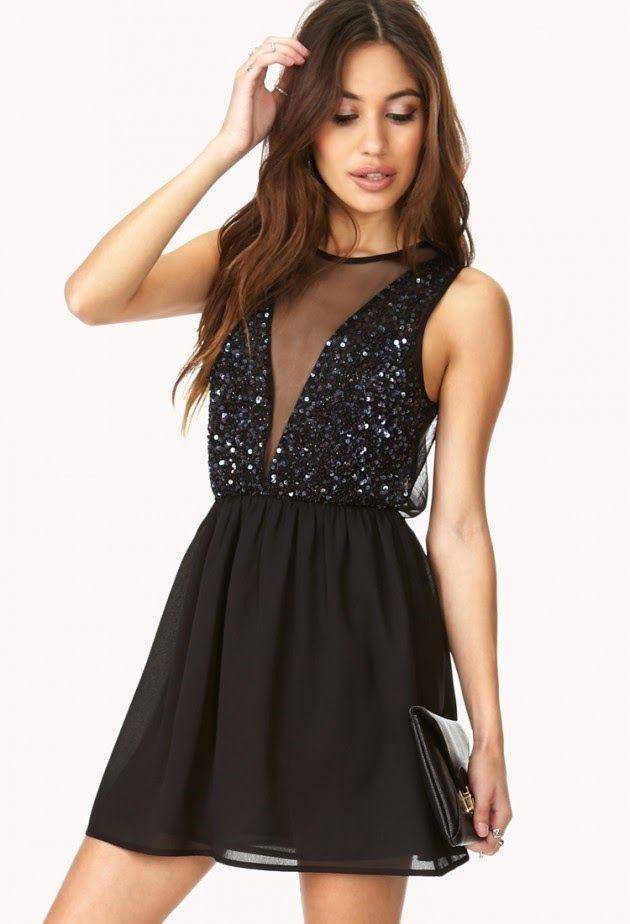 modernas imagenes de vestidos cortos de noche negro