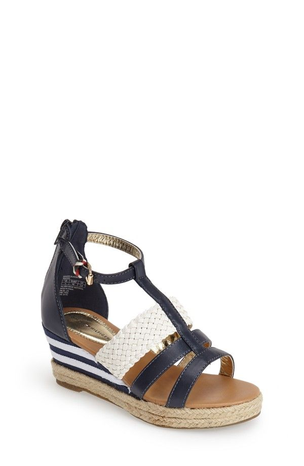 Tommy Hilfiger 'Desiree' Espadrille Wedge Sandal (Little Kid & Big Kid)