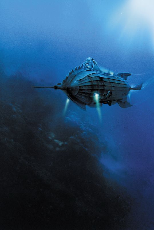 """The Nautilus - the famous atomic sub from Jules Verne's """"20,000 Leagues Under the Sea"""".  Is this sci-fi steampunk classic has inspired millions."""