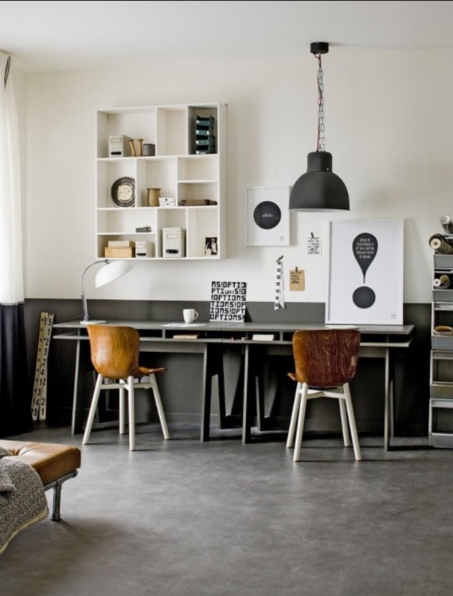Grey, modern, industrial
